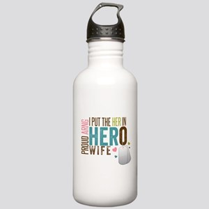 I Put the Her in Hero Proud ARNG Wife Stainless Wa