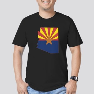 Arizona Flag Men's Fitted T-Shirt (dark)