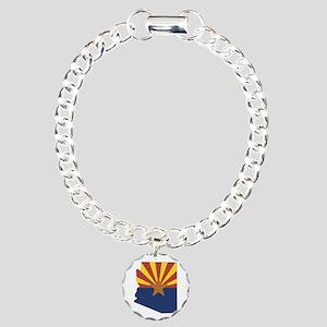 Arizona Flag Charm Bracelet, One Charm