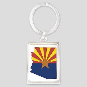Arizona Flag Portrait Keychain