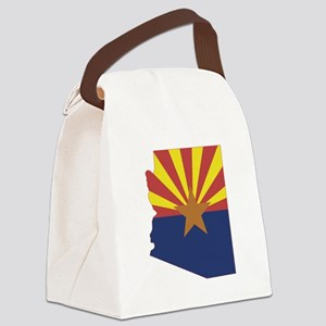 Arizona Flag Canvas Lunch Bag