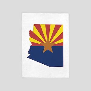 Arizona Flag 5'x7'Area Rug