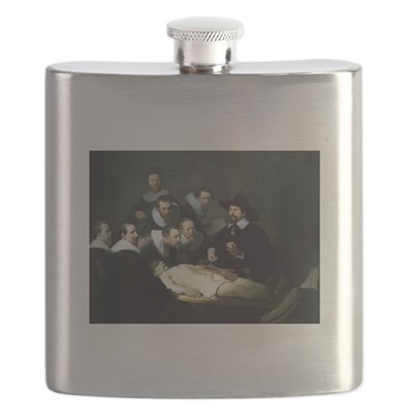 Rembrandt Anatomy Lesson Of Dr Tulp Flask By Artzsake