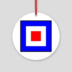 Nautical Flag Code Whiskey Ornament (Round)