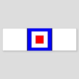 Nautical Flag Code Whiskey Bumper Sticker