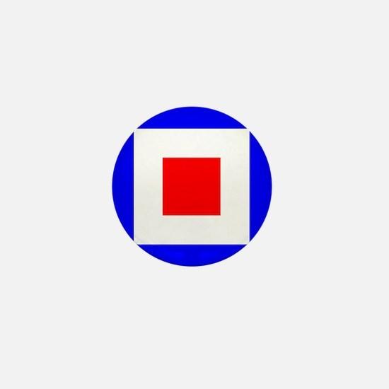 Nautical Flag Code Whiskey Mini Button