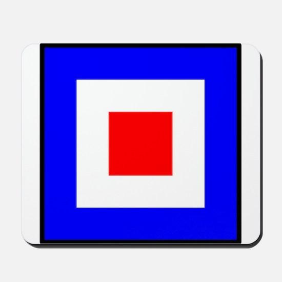 Nautical Flag Code Whiskey Mousepad