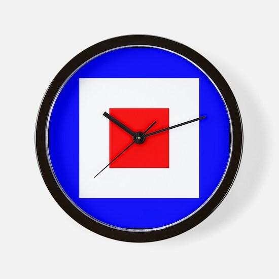Nautical Flag Code Whiskey Wall Clock