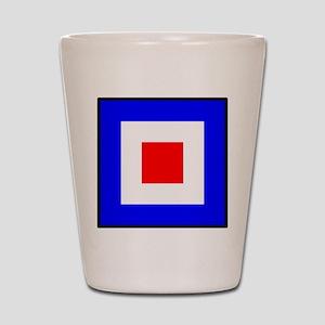 Nautical Flag Code Whiskey Shot Glass