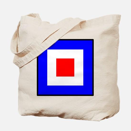 Nautical Flag Code Whiskey Tote Bag