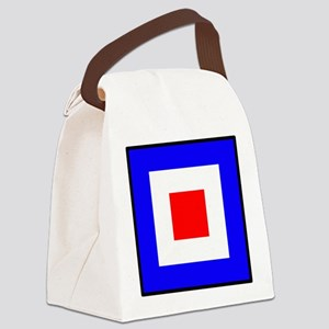 Nautical Flag Code Whiskey Canvas Lunch Bag