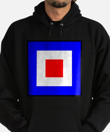 Nautical Flag Code Whiskey Hoodie
