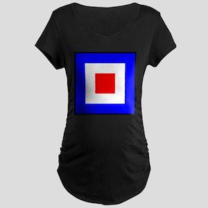 Nautical Flag Code Whiskey Maternity T-Shirt