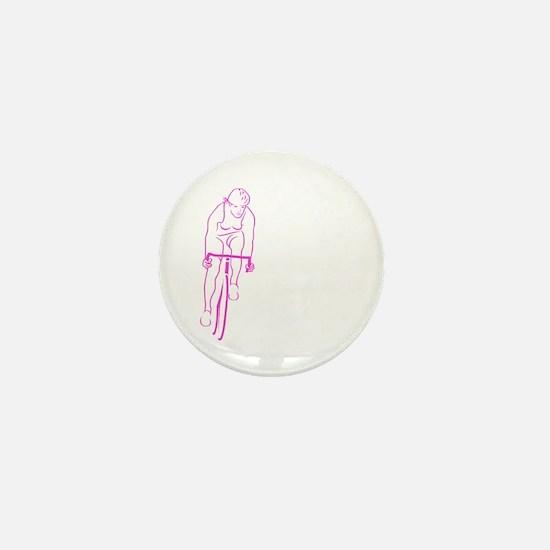 Cycle Woman Mini Button