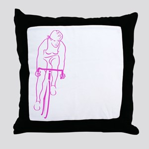 Cycle Woman Throw Pillow