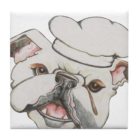 Bulldog Chef Tile Coaster