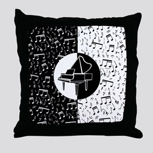Piano lover art Throw Pillow