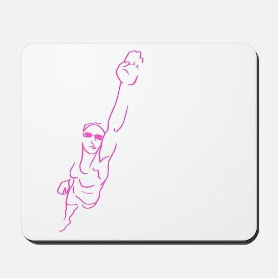 Swim Woman Mousepad