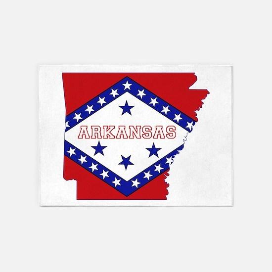 Arkansas Flag 5'x7'Area Rug