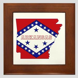 Arkansas Flag Framed Tile