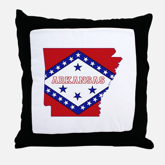 Arkansas Flag Throw Pillow
