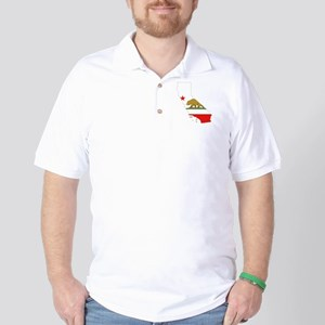 California Flag Golf Shirt