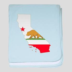 California Flag baby blanket