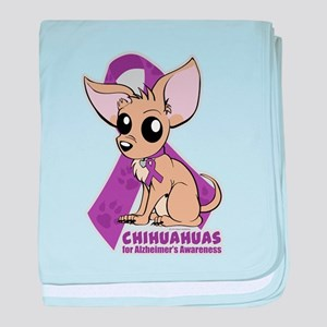 Chihuahuas for Alzheimers Awareness baby blanket