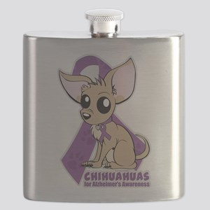 Chihuahuas for Alzheimers Awareness Flask