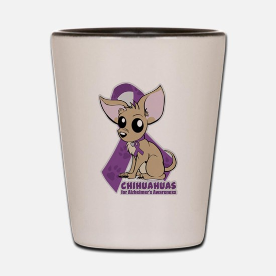 Chihuahuas for Alzheimers Awareness Shot Glass