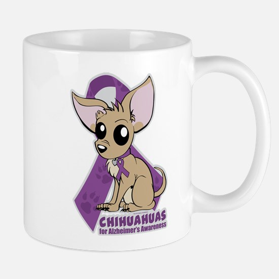 Chihuahuas for Alzheimers Awareness Mug