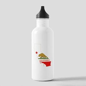 California Flag Stainless Water Bottle 1.0L