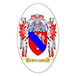 Calcagno Sticker (Oval 10 pk)