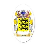 Caines Oval Car Magnet