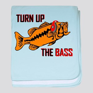 Funny Turn up the Bass design baby blanket