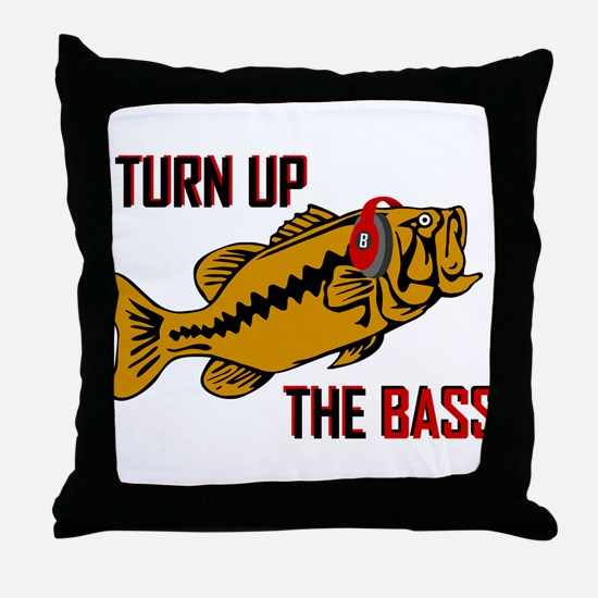Funny Turn up the Bass design Throw Pillow