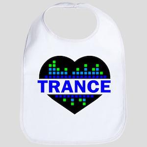 Trance Heart tempo design Bib