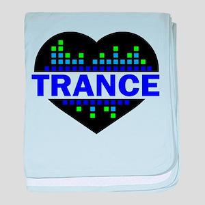 Trance Heart tempo design baby blanket
