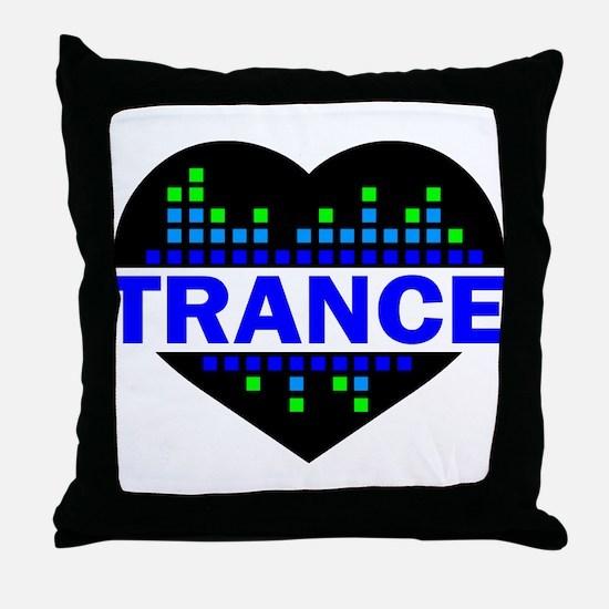 Trance Heart tempo design Throw Pillow