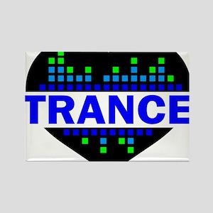 Trance Heart tempo design Rectangle Magnet