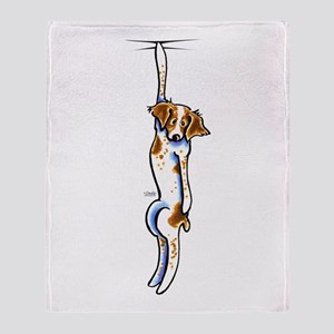 Clingy Brittany Off-Leash Art™ Throw Blanket