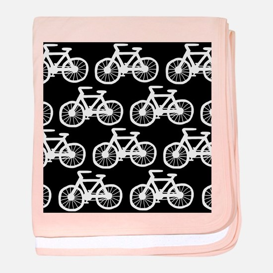 'Bicycles' baby blanket