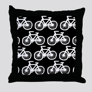 'Bicycles' Throw Pillow