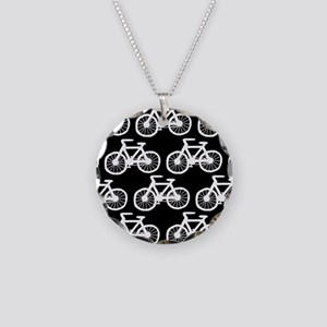 'Bicycles' Necklace Circle Charm