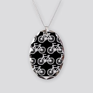'Bicycles' Necklace Oval Charm