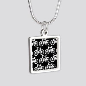 'Bicycles' Silver Square Necklace