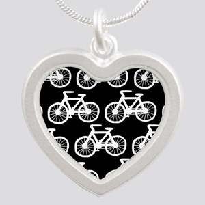 'Bicycles' Silver Heart Necklace
