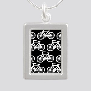 'Bicycles' Silver Portrait Necklace