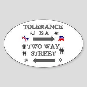 Tolerance Sticker (Oval)
