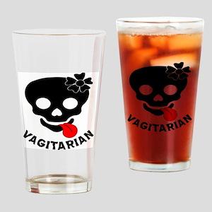 Vagitarian Skull & Tongue Drinking Glass